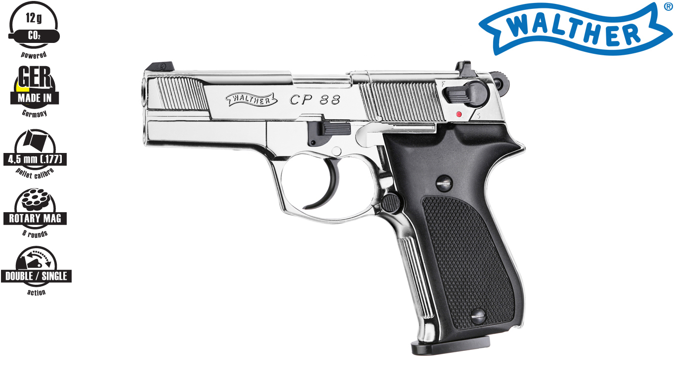 Walther CP88 Polished Chrome